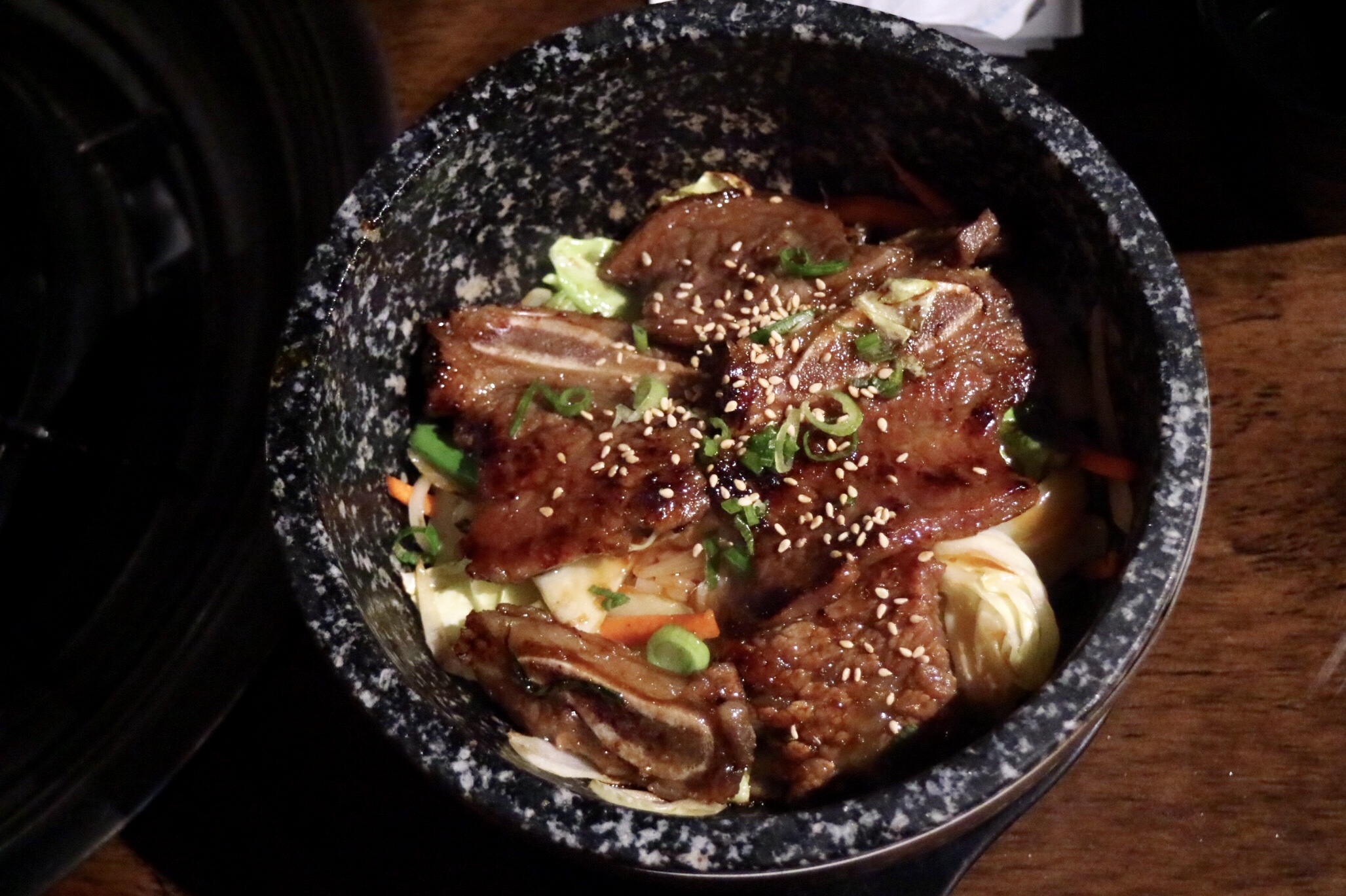 Galbi Deopbap / Beef Short Rib Rice Stone Bowl