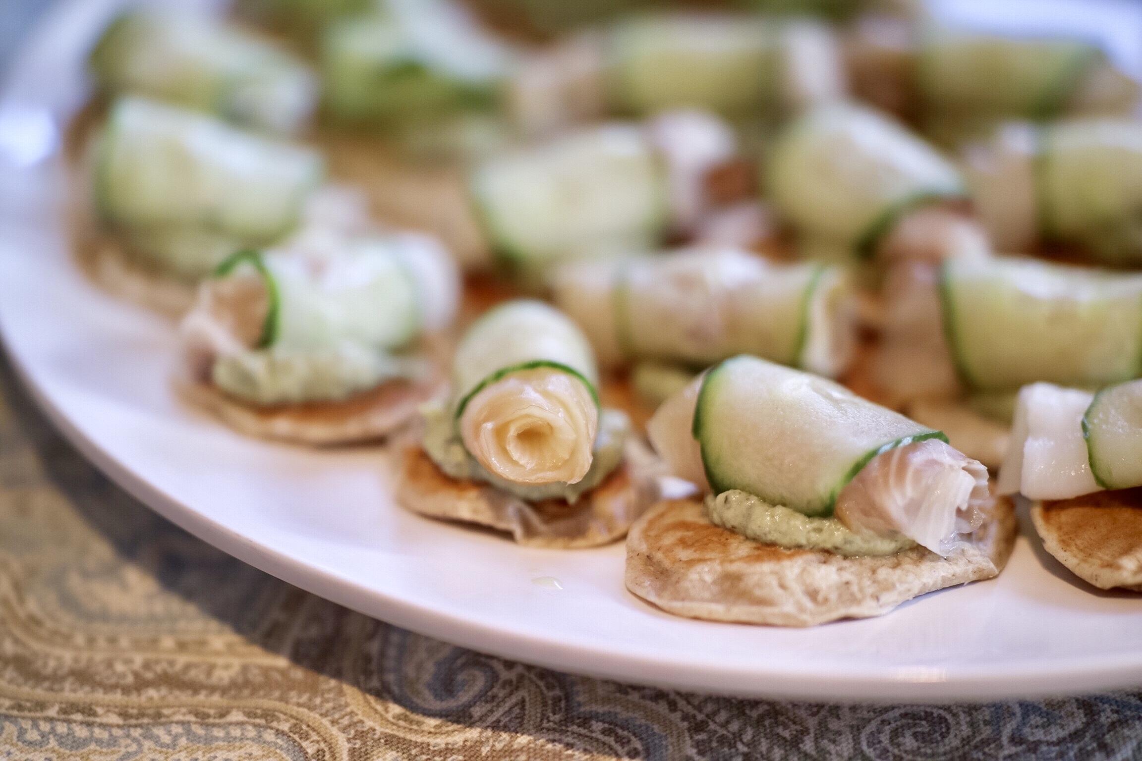 Cucumber Wrapped Smoked Sablefish