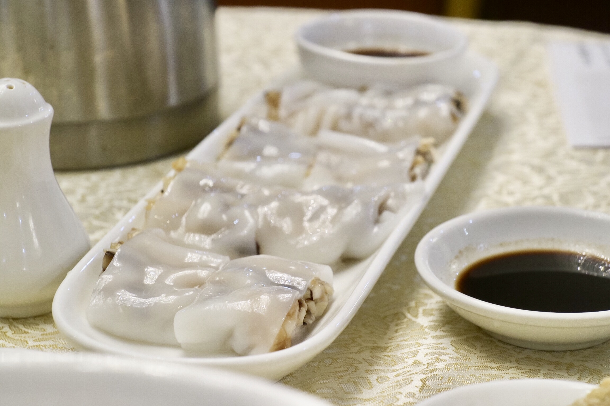 Steamed Rice Noodle Rolls with Mixed Mushrooms