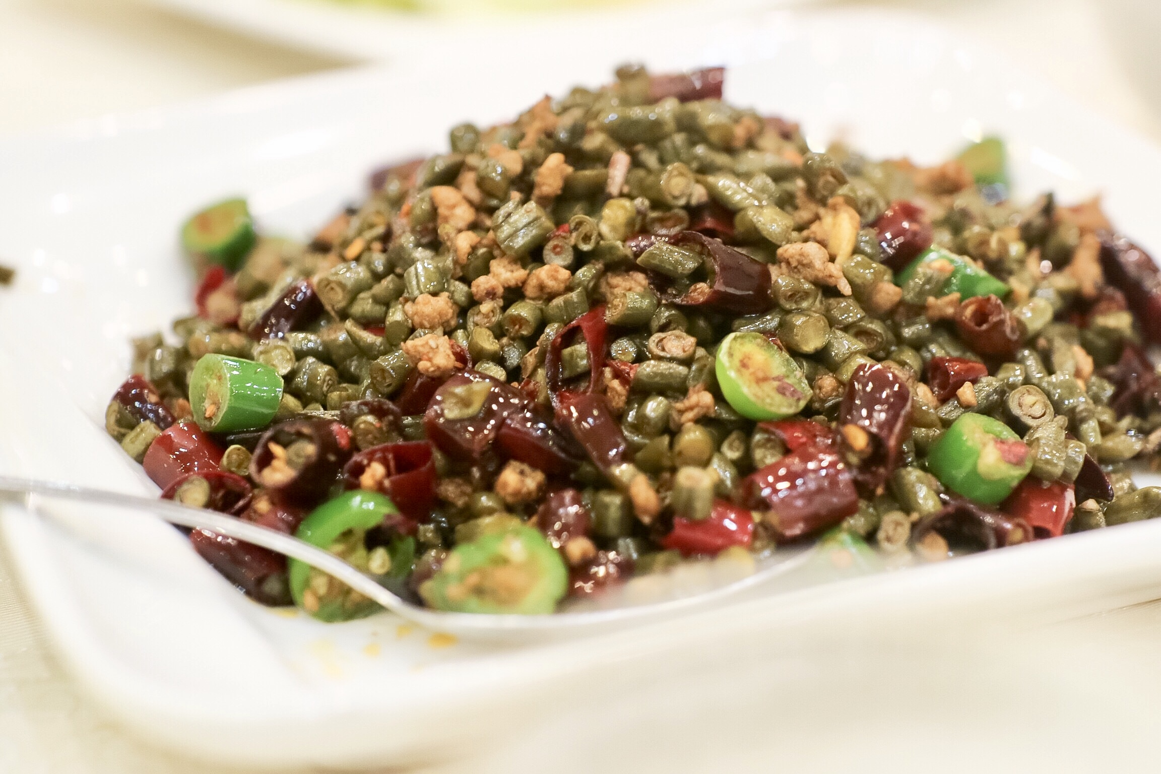 Pickled Long Beans with Ground Pork Stir Fry