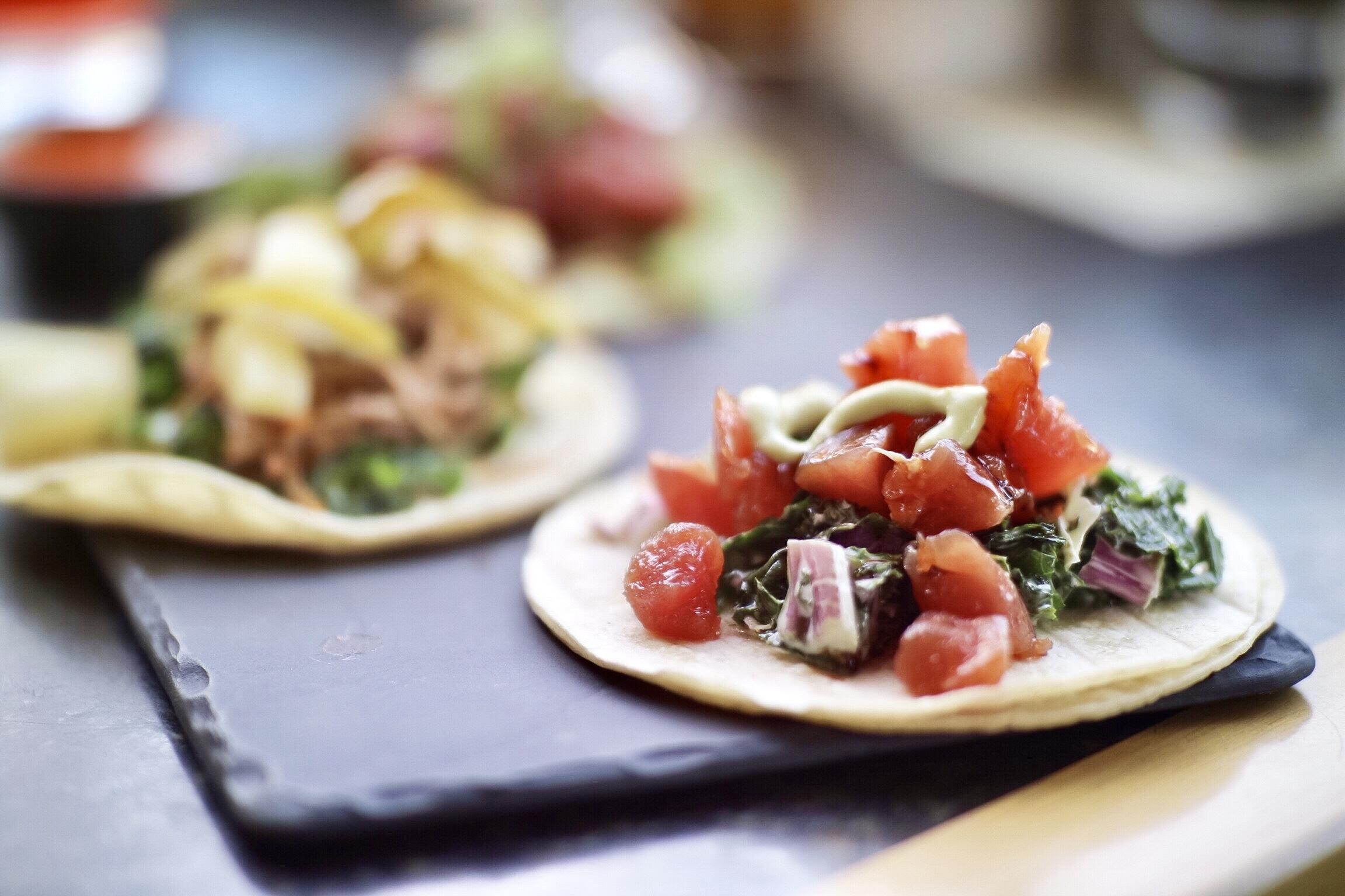 Tuna Tartare Taco