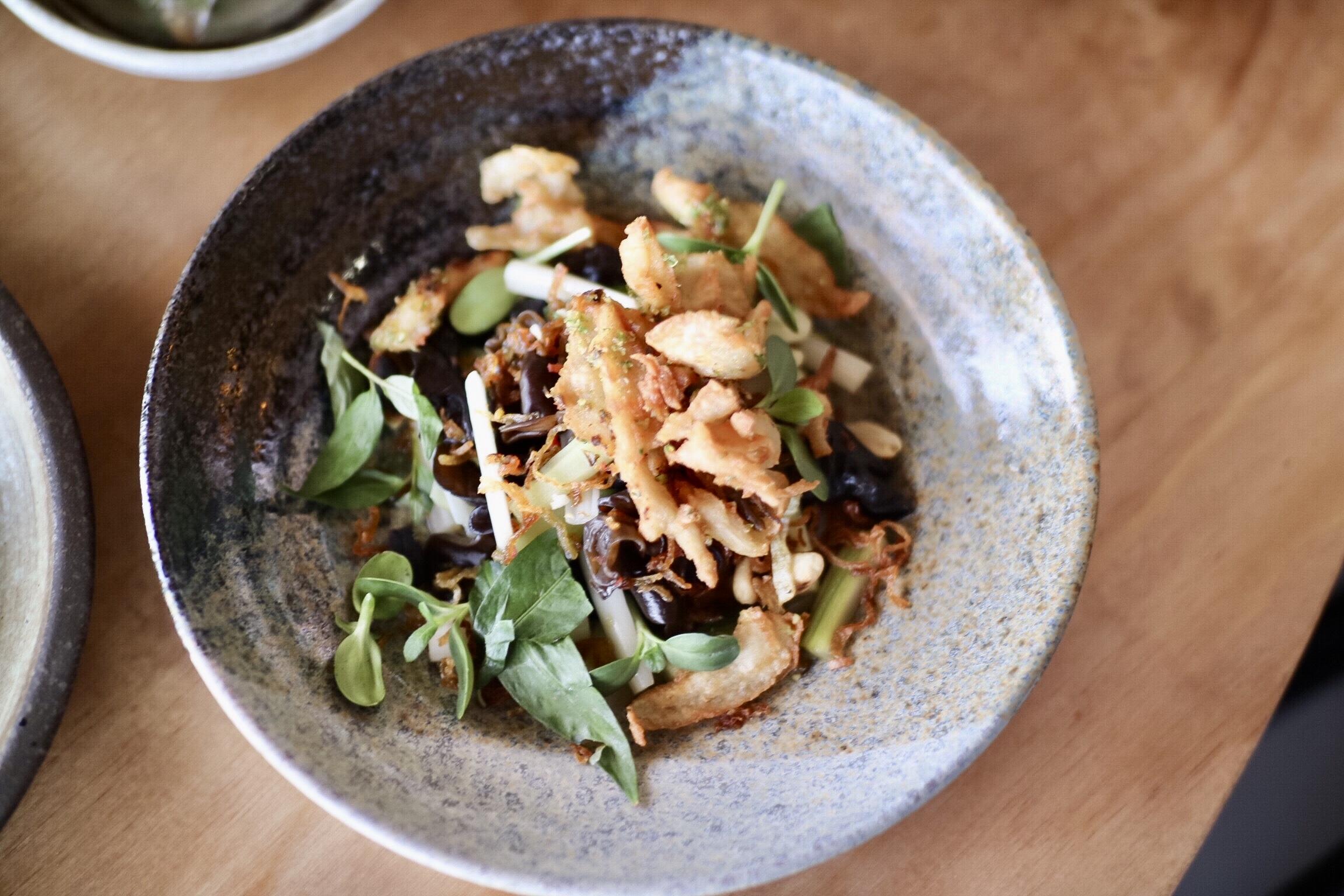 Seitan Calamari Lotus Salad