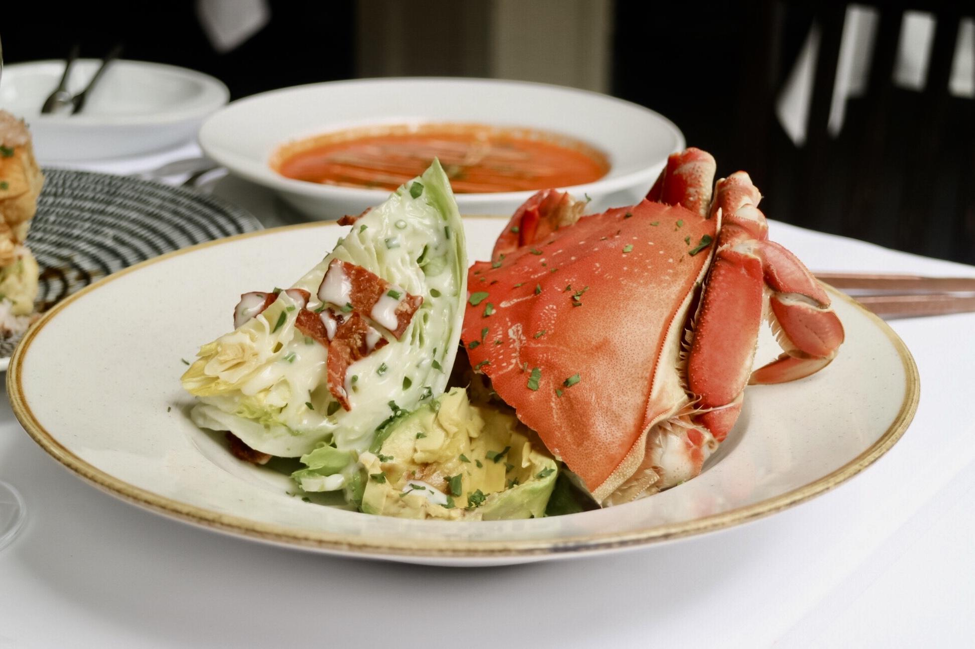 BC Dungeness Crab Club Salad