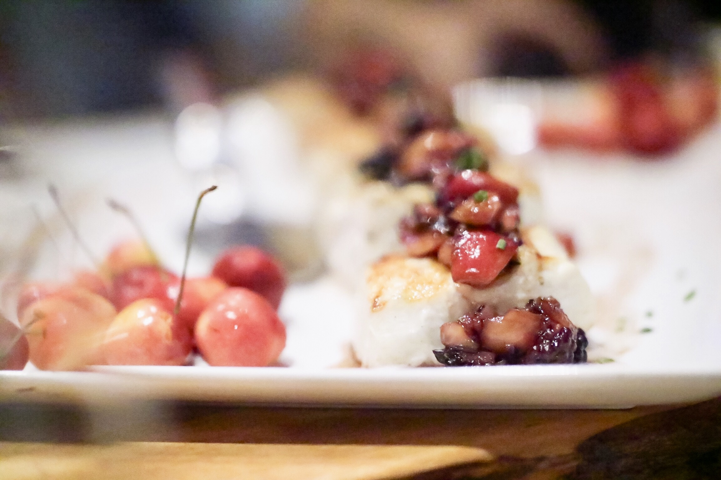 Grilled Halibut & Cherry Salsa