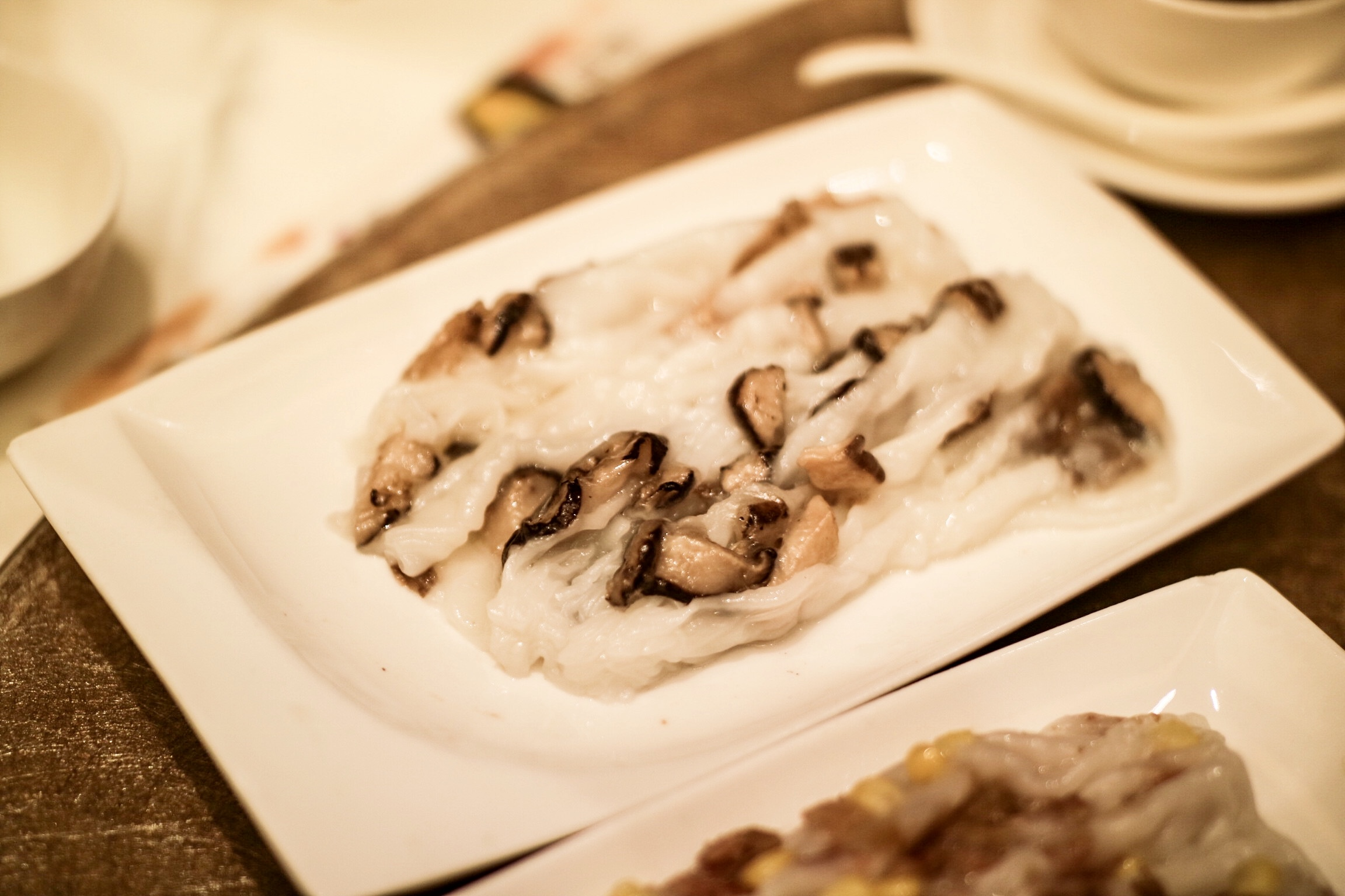 Steamed Rice Rolls with 3 Kinds of Mushroom