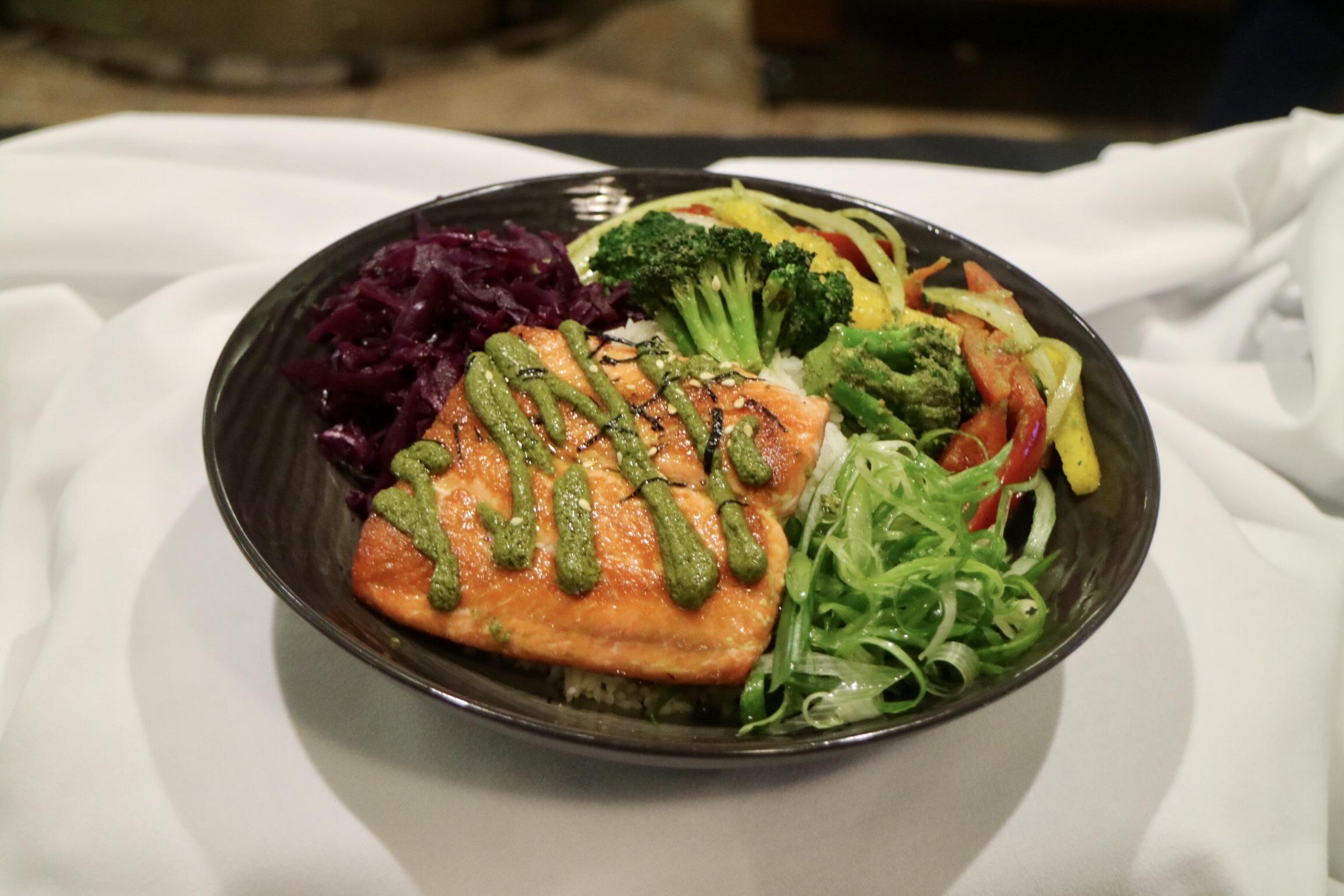 Thai Pesto Salmon Bowl