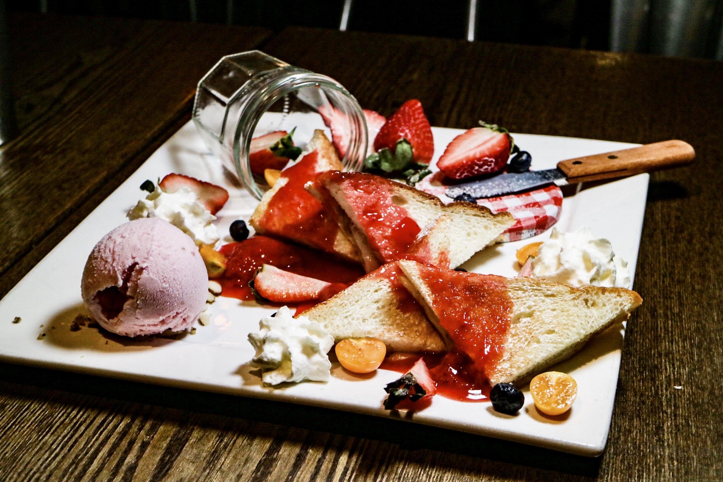 Strawberry Mochi Toast