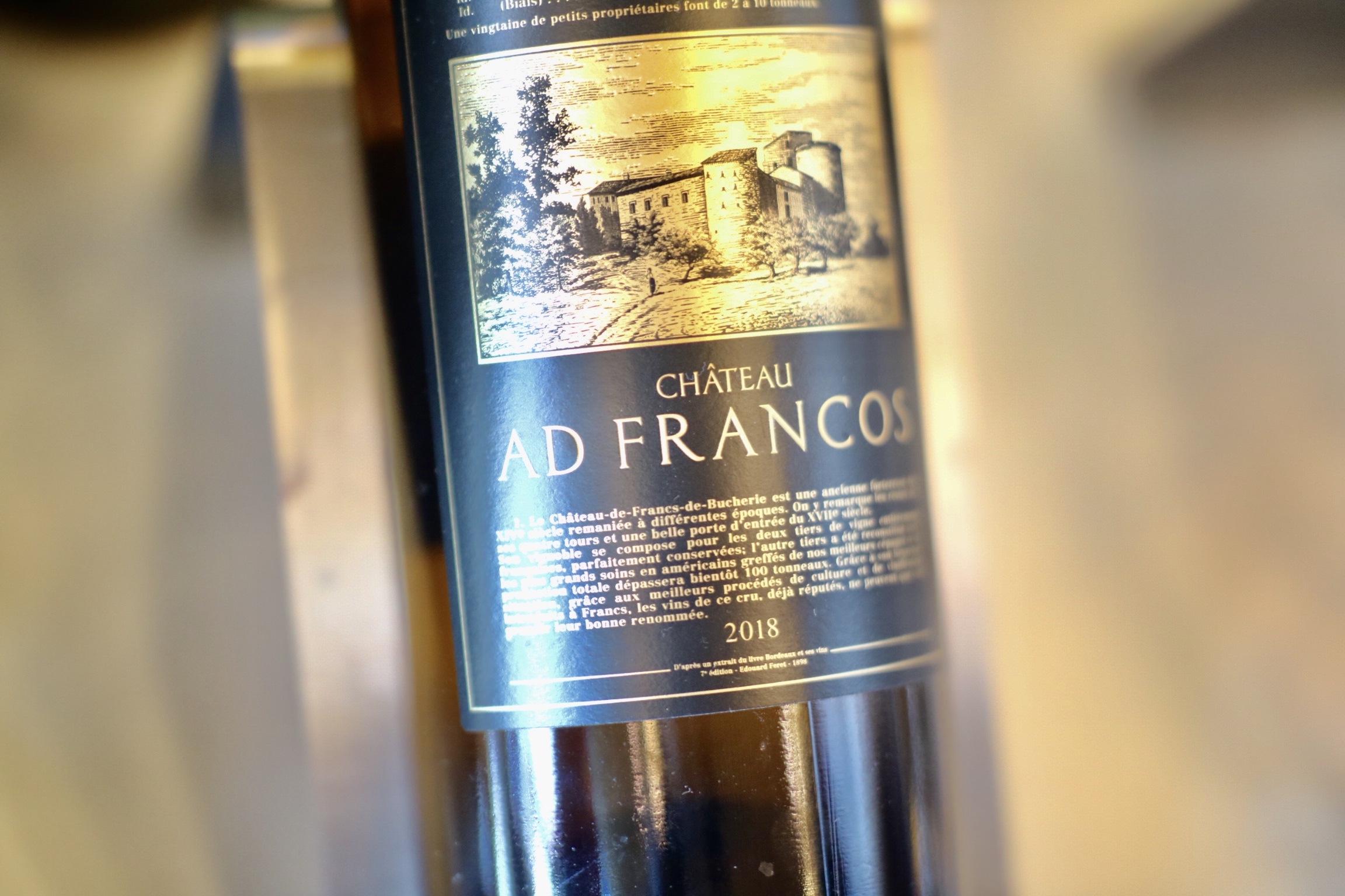 2018 Château Ad Francos Blanc
