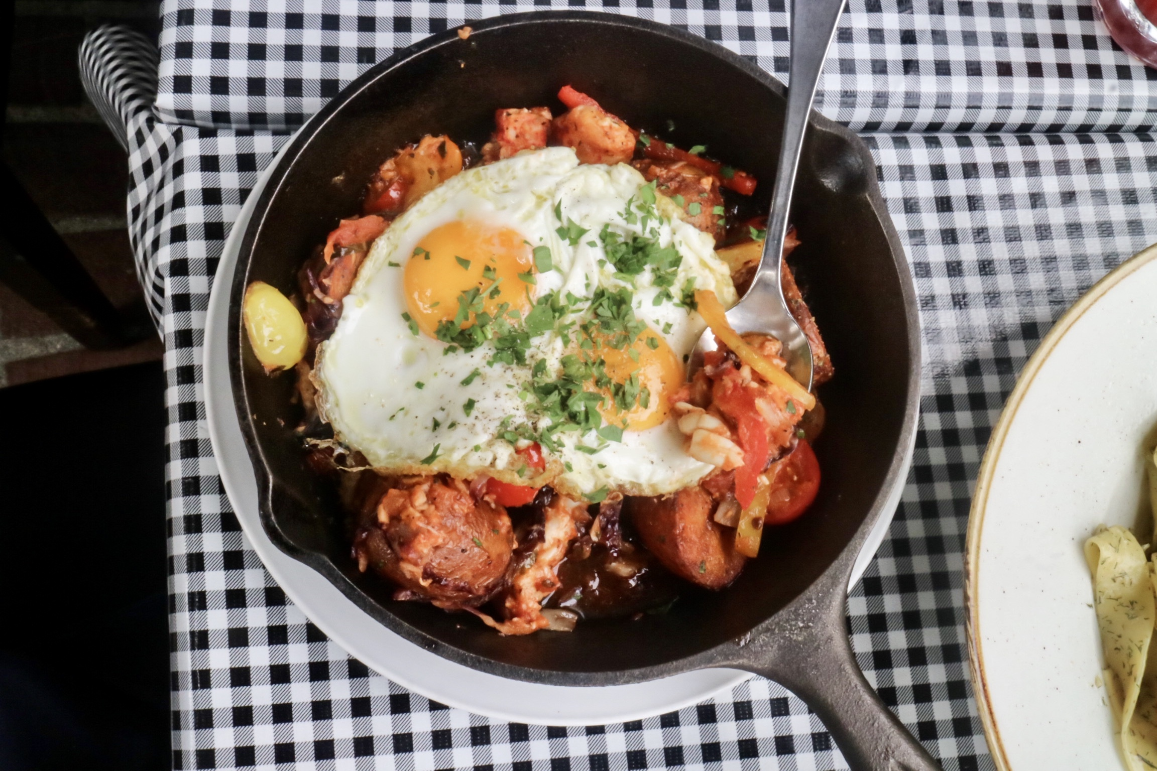 Baked Lobster & Egg Skillet