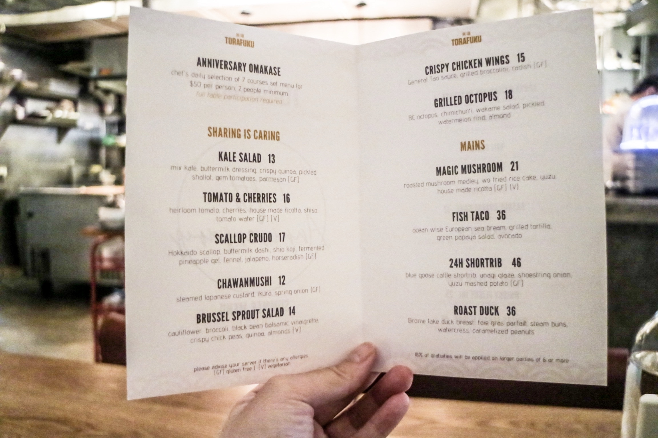 5th Anniversary Chef's Omakase Menu