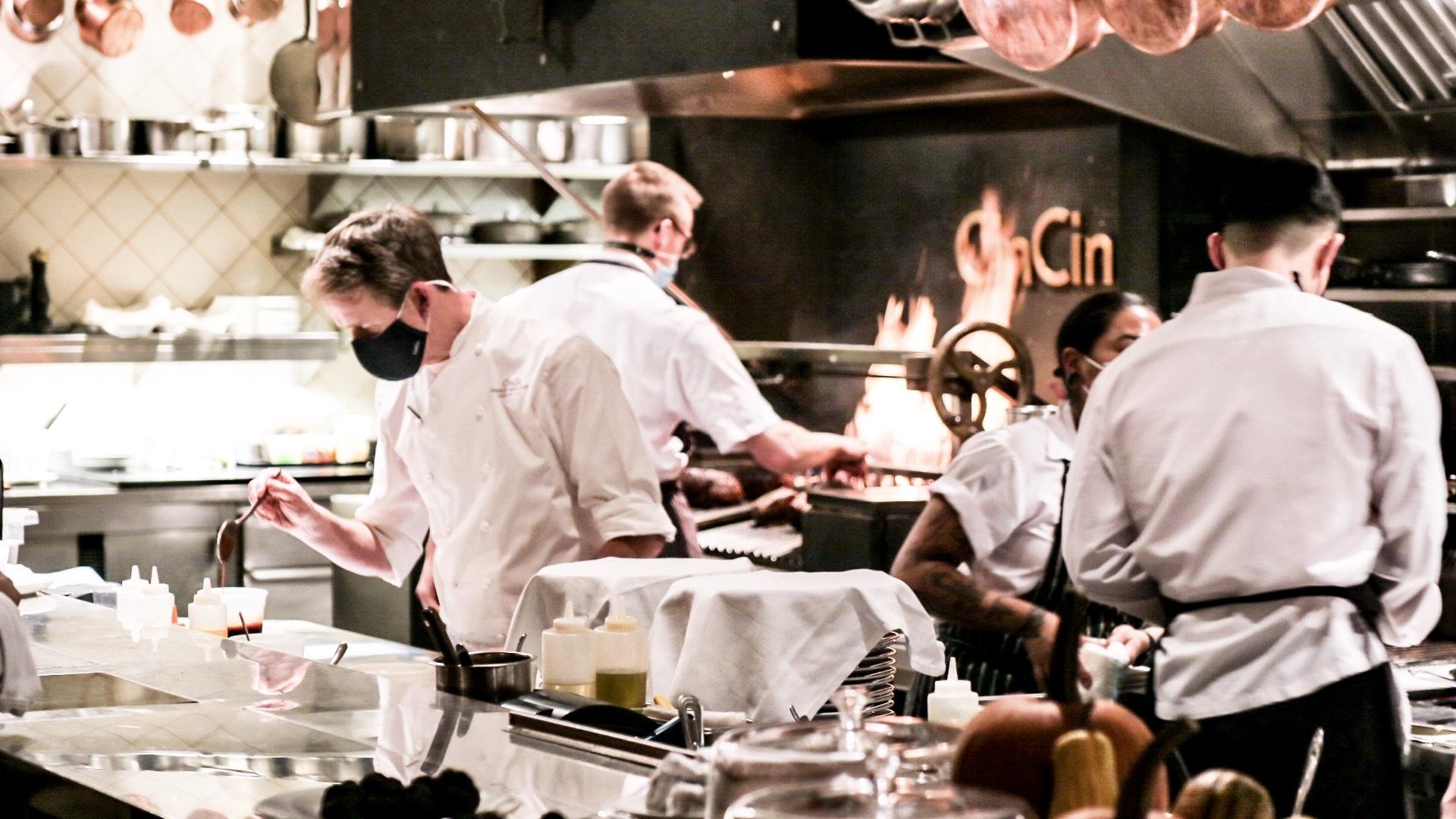 Executive Chef Andrew Richardson and Chef de Cuisine Andrea Alridge at CinCin