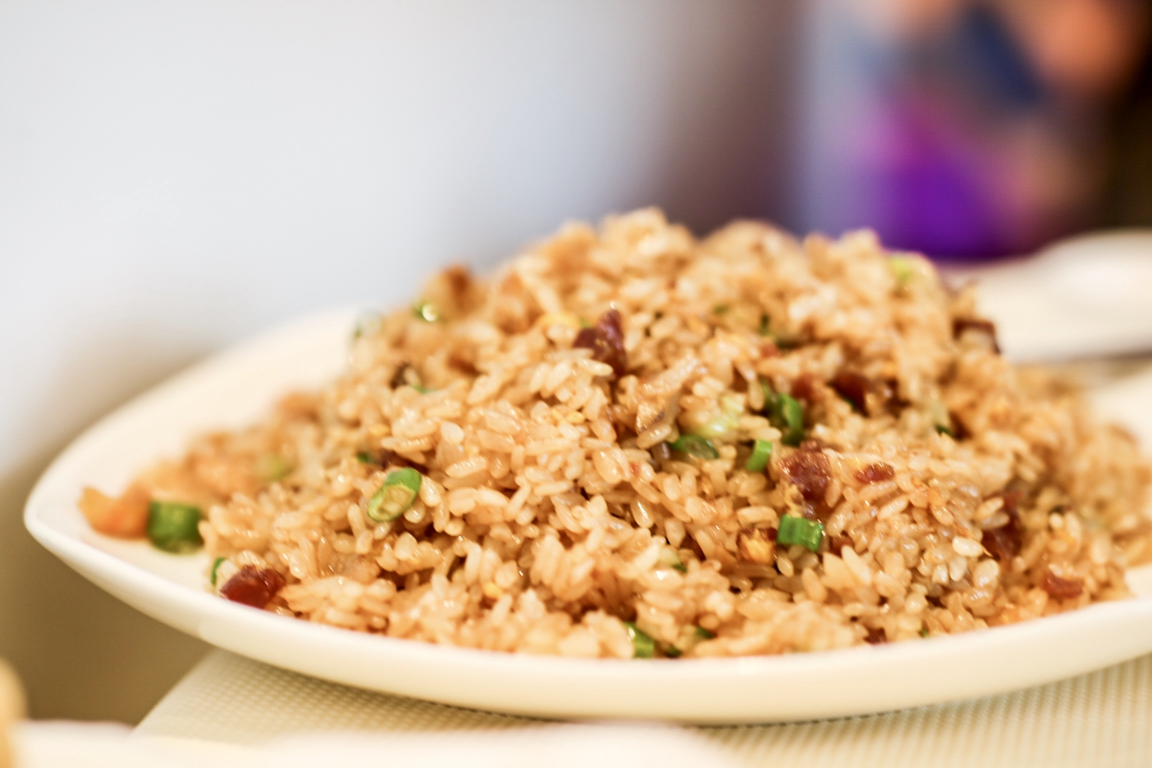 Pan Fried Sticky Rice with Chinese Sausage