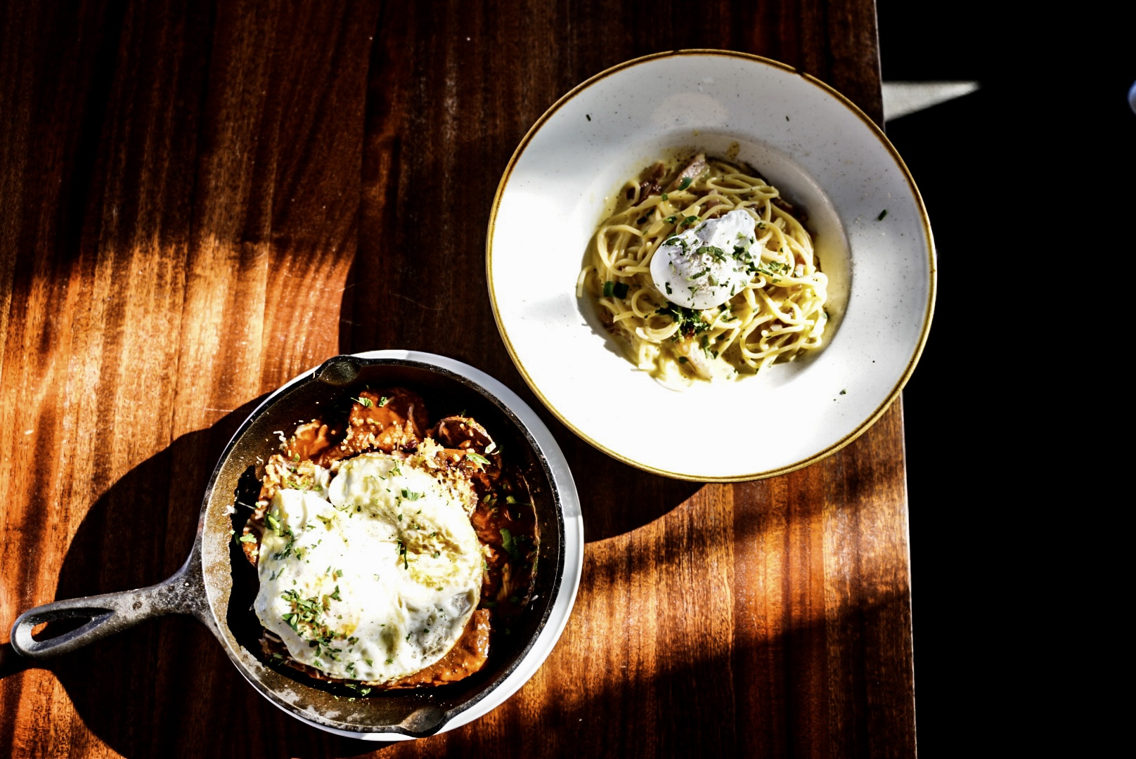 Short Rib Hash + Morning Carbonara